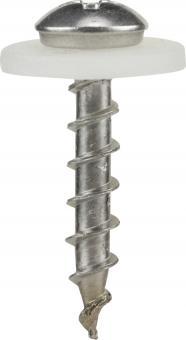 Alufensterbankschraube mit Scheibe, A2, PH2, natur blank 3.9x20 (1000 ST)