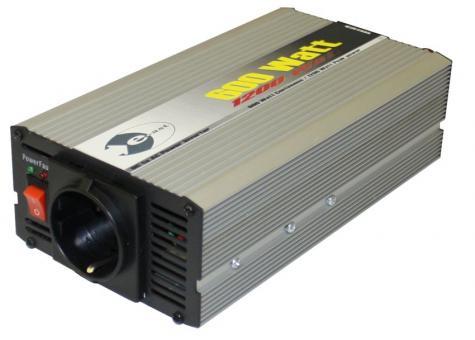 Wechselrichter 24 V DC/230 V AC 50 Hz - 600 Watt Dauerleistung 1.200 Watt kurzfristige Spitzenleistung (1 ST)