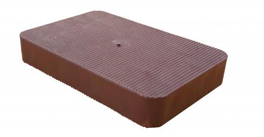 Lastabtragungsklötze / Abstandshalter / Unterlegplatten, rotbraun 60x40x10 mm (500 ST)