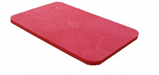 Lastabtragungsklötze / Abstandshalter / Unterlegplatten, rot 60x40x3 mm (1000 ST)