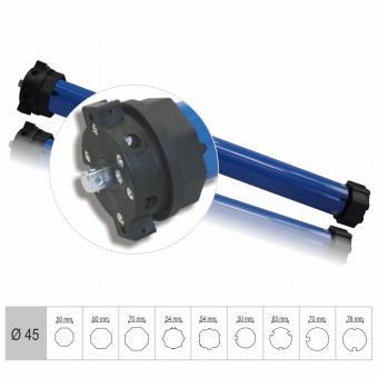 Rohrmotor, mechanisch einstellbare Endlagen, 50 Nm mit Adapter für 60 mm 8-Kantwelle (1 ST)