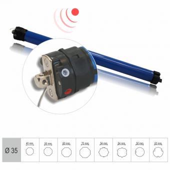 Funkrohrmotor, mechanisch einstellbare Endlagen, 13 Nm mit Adapter für 40 mm 8-Kantwelle, Funkprotokoll G2 (1 ST)