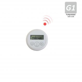 1-Kanal Sender mit Sonnensensor und Timer-Funktion, transparentem Saugnapf, inkl. Knopfzelle, 433,92 MHz, weiß (1 ST)