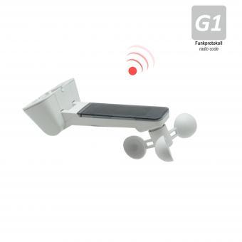 Sender mit Sonnen- und Windsensor für Markisen, inkl. Batterie, weiß (1 ST)