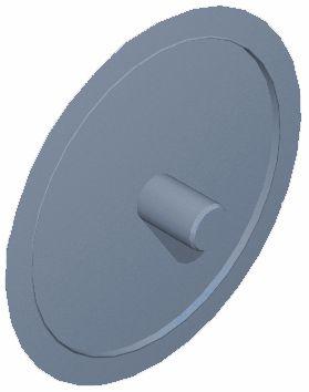 Abdeckkappe für Lochkopfschrauben, silbergrau RAL 7001 2.5x15