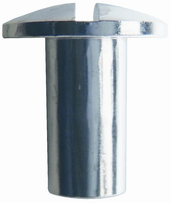Hülsenmutter M6, Messing mit Schlitz 15 mm