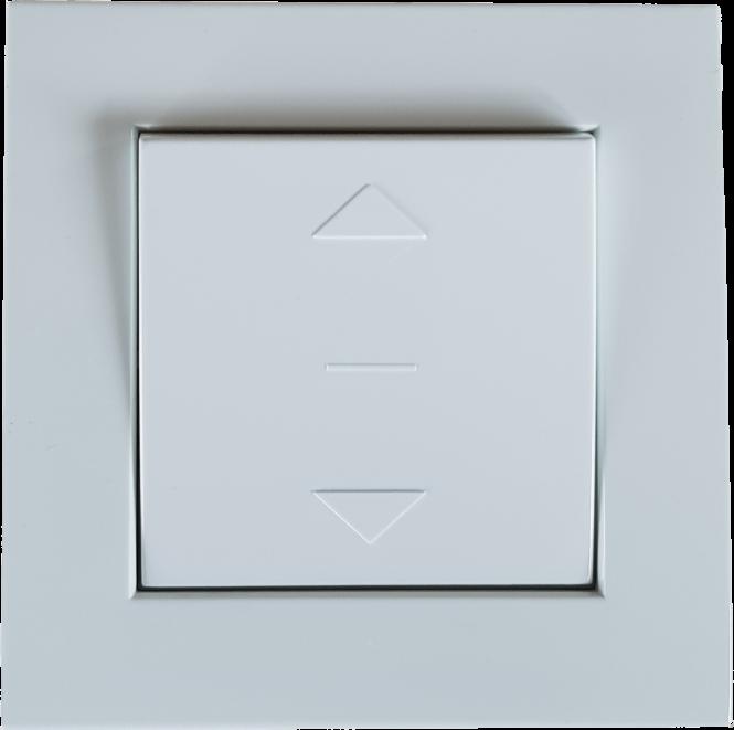Schalter für Rollläden und Jalousien  Auf / Ab-Taste, Unterputz, 230 V/AC, weiß, RAL 9003