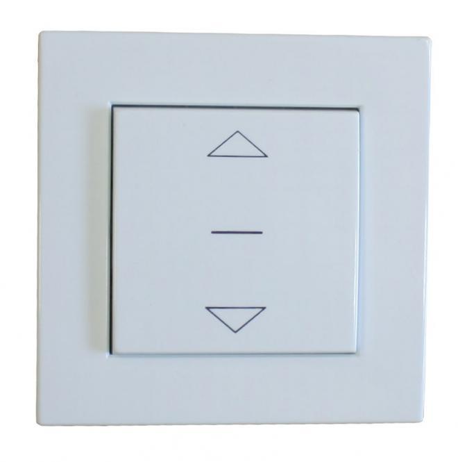 Schalter für Rollladen und Jalousien  Auf / Ab, Unterputz, 230 V/AC, weiß, RAL 9003