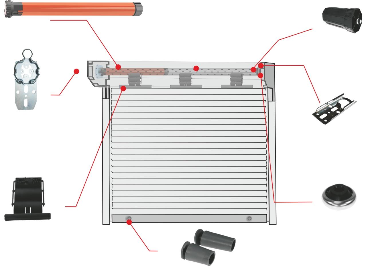Relativ heicko e-ast GmbH | Rohrmotor, elektronisch einstellbare Endlagen KG57